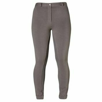 Harry Hall TEX Jodhpurs Chester Sticky Bum Ladies Charcoal
