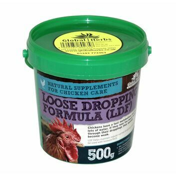 Global Herbs Poultry Loose Dropping Formula - 500 GM