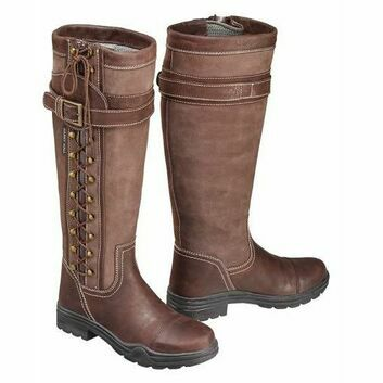 Harry Hall Long Country Boots Overstone Brown