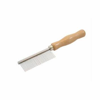 Mane Comb Wooden Handle