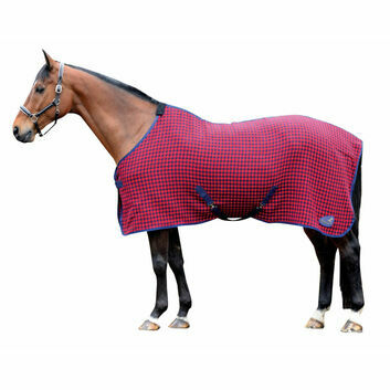 Masta Cooler Rug Soft Waffle Weave Dark Red Check