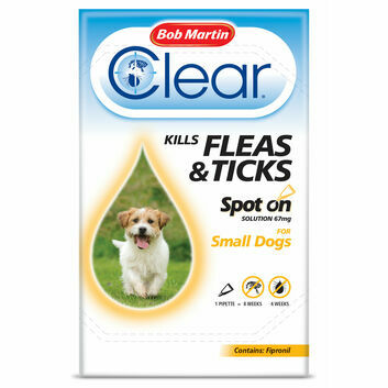 Bob Martin Clear Spot On for Small Dogs 2-10kg