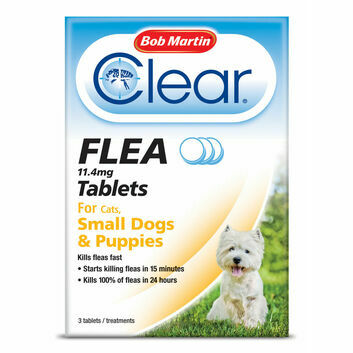 Bob Martin Clear Flea Tablets for Small Dogs & Puppies - 3 PACK