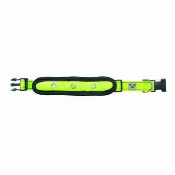 Woofmasta Dog Collar Flash Yellow