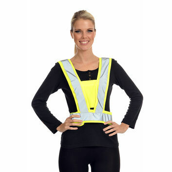 Equisafety Reflective Hi-Vis Adjustable Body Harness