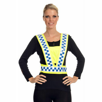 Equisafety Polite Reflective Hi-Vis Adjustable Body Harness - ADULT
