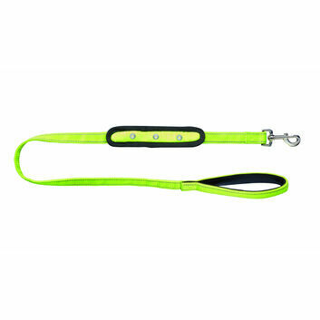Woofmasta Dog Lead Flash Yellow