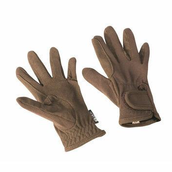 Bitz Riding Gloves Child Brown