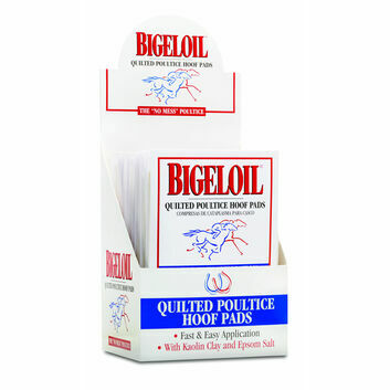 Absorbine Bigeloil Quilted Poultice Hoof Pad - 4 PACK