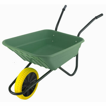 Multi-Purpose Wheelbarrow c/w Puncture Proof Wheel - GREEN