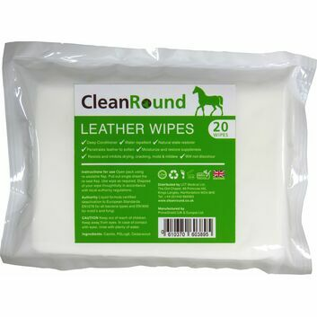 CleanRound Leather Wipes - 20 PACK