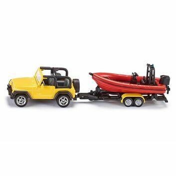Siku Jeep with Boat 1:87