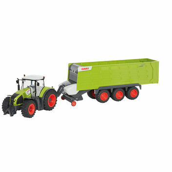 Europlay Claas Axion 870 Remote Control Tractor + Cargos 9600 Trailer 1:16