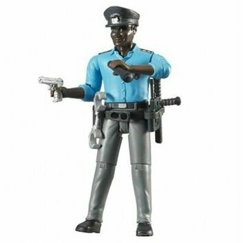 Bruder Black Policeman with Accessories 1:16