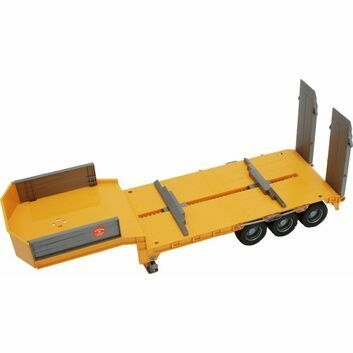 Bruder Low Loader Trailer Yellow 1:16