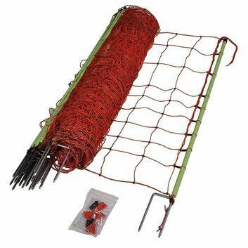 Gallagher EuroNetz Animal Netting, Orange 120/2W14/G-50m