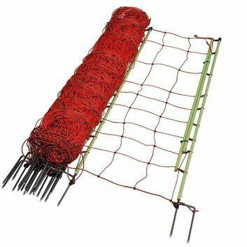 Gallagher EuroNetz Animal Netting, Orange 120/2W14/G-pos/neg-50m