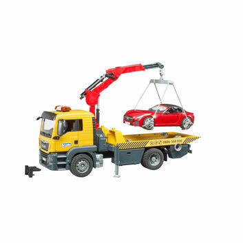 Bruder MAN TGS Recovery Tow Truck with Roadster 1:16