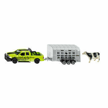 Siku RAM 1500 with Livestock Trailer 1:50