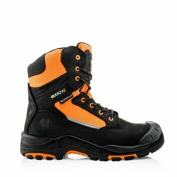Buckler Boots Buckz Viz Safety Lace/Zip Boot - Black/Orange