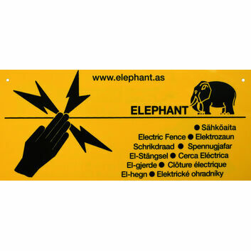 Elephant Elephant Warning sign