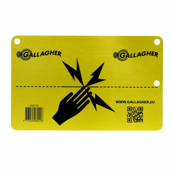 Gallagher Aluminium Electric Fence Warning sign