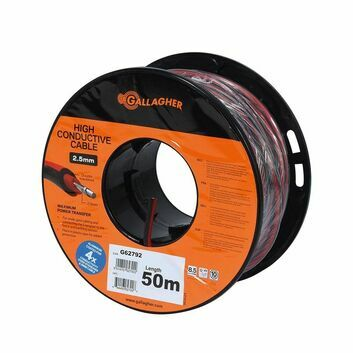 Gallagher Lead out cable XL Red 2.5mm 50m
