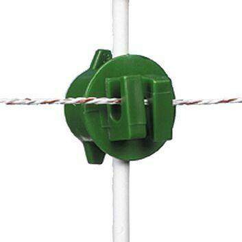 20 x Gallagher Screw-on rod insulator green 6/14mm