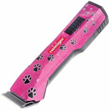 Heiniger Saphir New Style Cordless Clipper Pink Paws With No 10 Blade