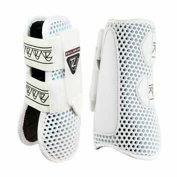 Equilibrium Tri-Zone Open Fronted Boots White