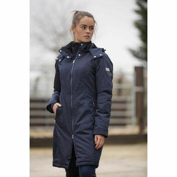 Mark Todd Long Coat Waterproof Performance Ladies Navy