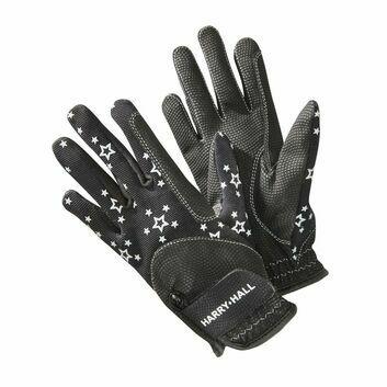 Harry Hall Gloves Roxby Reflective Junior Black