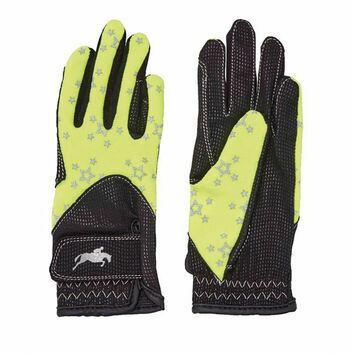 Harry Hall Gloves Roxby Reflective Junior Yellow
