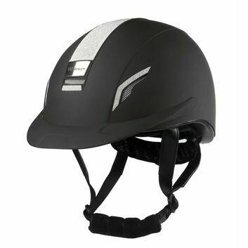 Whitaker Vx2 Sparkly Riding Helmet Black