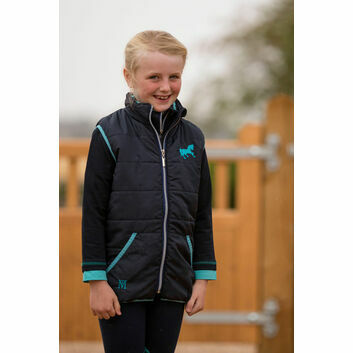 Mark Todd Gilet Quilted Kids Navy/Aqua