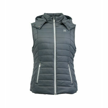 Mark Todd Gilet Winter Padded  Ladies Grey/Silver