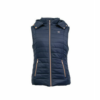 Mark Todd Gilet Winter Padded Ladies Navy/Rose