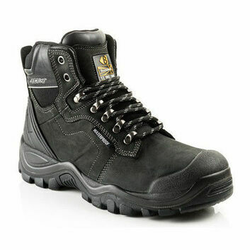 Buckler BSH009BK Buckshot Black Lace Safety Boots (Waterproof)