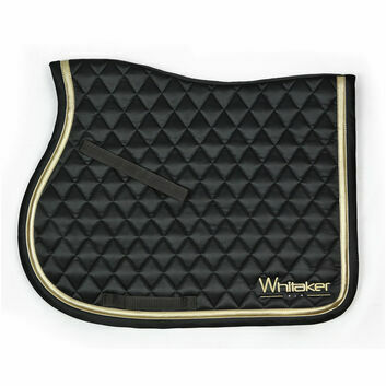 Whitaker Saddle Pad Thornton Black/Gold