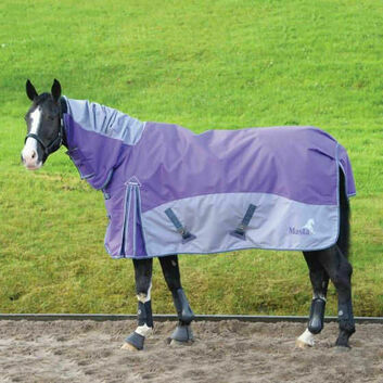 Masta Turnout Rug Fieldmasta 100G Fixed Neck Purple/Grey