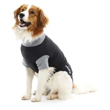 Buster Body Suit For Dogs Black/Grey