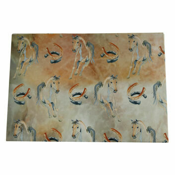 Deckled Edge Gift Wrap Horse Shoe X 2 Sheets