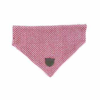 Hugo & Hudson Bandana Herringbone Pink