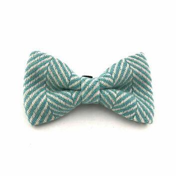 Hugo & Hudson Bow Tie Herringbone Aqua