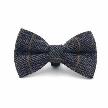 Hugo & Hudson Bow Tie Herringbone Grey Checked