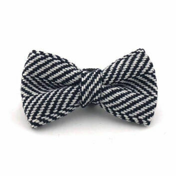 Hugo & Hudson Bow Tie Herringbone Navy