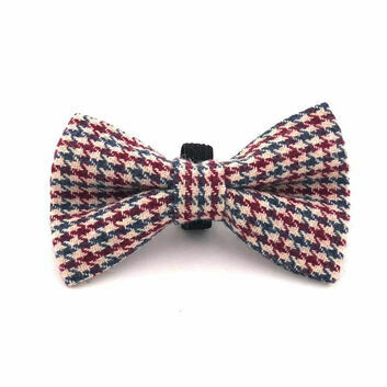 Hugo & Hudson Bow Tie Herringbone Red/Blue