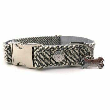 Hugo & Hudson Collar Herringbone Grey Checked