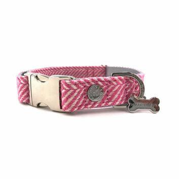 Hugo & Hudson Collar Herringbone Pink