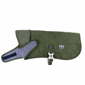 Hugo & Hudson Quilted Jacket Bottle Green
